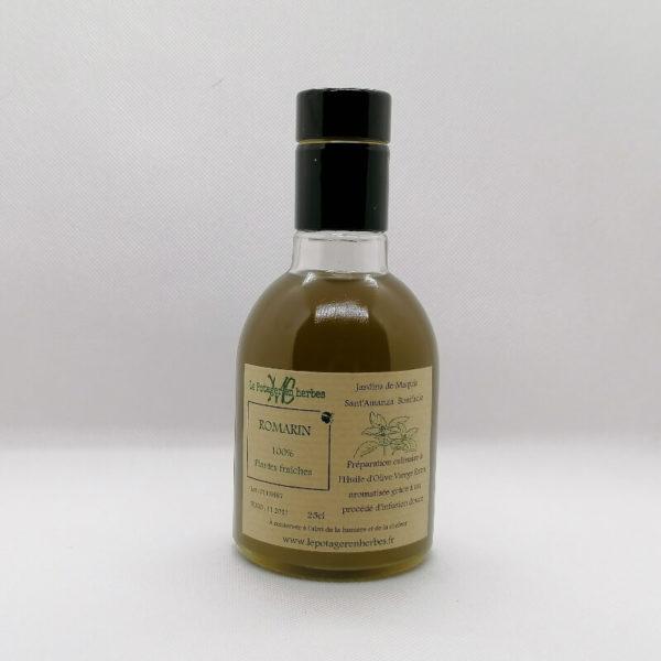 huile d'olive aromatisée au romarin