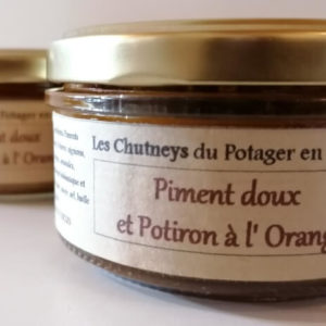 Chutney piment doux et potiron à l'orange