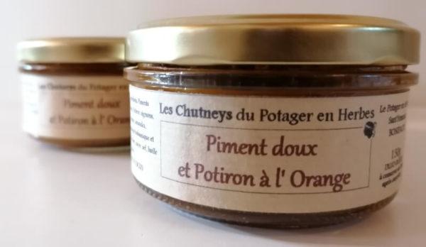 Chutney piment doux et potiron à l'orange