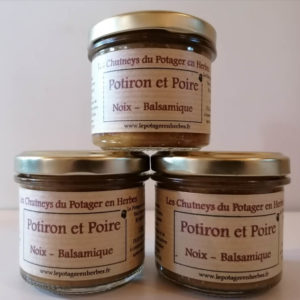 Chutney Potiron - poire - Noix - Balsamique