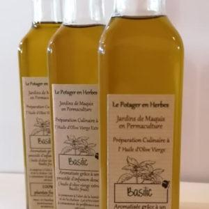 huile infusée au basilic
