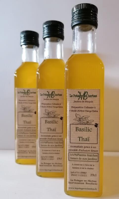 huile aromatisée basilic thai