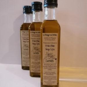 huile d'olive aromatisée à la sarriette