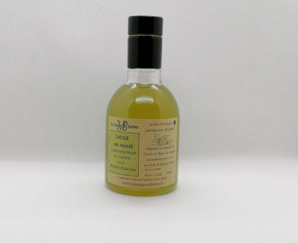 huile aromatisée sauge ail violet