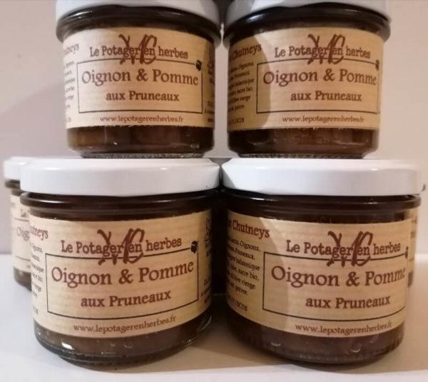 chutney Oignon Pomme pruneaux